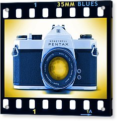 35mm Blues Pentax Spotmatic Acrylic Print by Mike McGlothlen