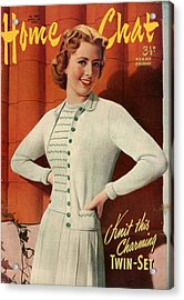 1950s Uk Home Chat Magazine Cover Acrylic Print