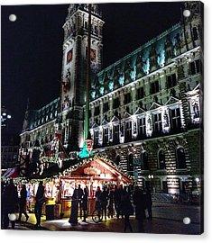 Christmas Market Hamburg Acrylic Print