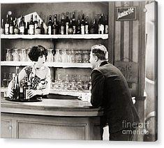 Silent Film Still: Drinking Acrylic Print