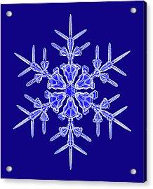 Snowflake Acrylic Print by Kenneth Libbrecht