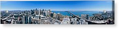 360 Degree View Of A City, Rincon Hill Acrylic Print by Panoramic Images