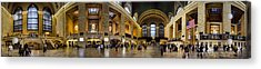 360 Panorama Of Grand Central Terminal Acrylic Print by David Smith