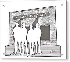 Acrylic Print featuring the drawing 3614 Jackson Highway by Calvin Durham