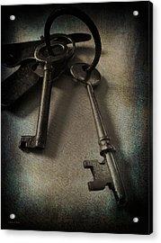 Vintage Keys Vignette Acrylic Print