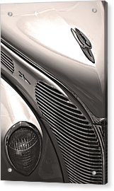 38 Ford Deluxe Sepia Acrylic Print