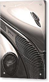 38 Ford Deluxe Sepia Acrylic Print by John  Bartosik