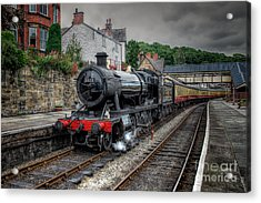 3802 At Llangollen Station Acrylic Print by Adrian Evans