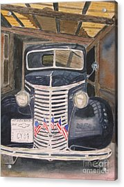 39 Chevy Acrylic Print by Peggy Dickerson