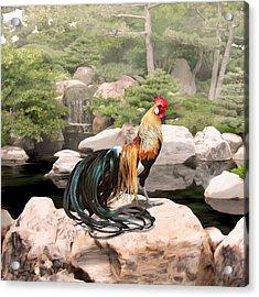 39. Phoenix Acrylic Print by Sigrid Van Dort