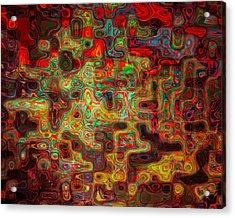 3d Circuitry Acrylic Print