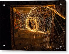 3d Fire Acrylic Print by Bill Cantey