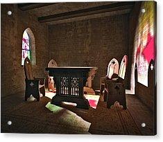 3d Gothic Room Acrylic Print
