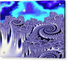 3d Julia Fractal Landscape: Plutonia Acrylic Print by Gregory Sams/science Photo Library