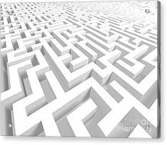 3d Maze - Version 2 Acrylic Print by Shazam Images