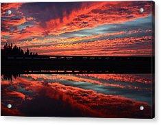 3d Sunset Acrylic Print