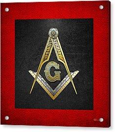 3rd Degree Mason - Master Mason Masonic Jewel  Acrylic Print