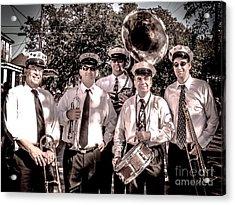 3rd Line Brass Band Acrylic Print by Renee Barnes