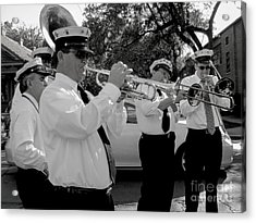 3rd Line Brass Band Second Line Acrylic Print by Renee Barnes