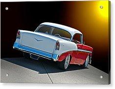 1956 Chevrolet Bel Air Acrylic Print by Dave Koontz