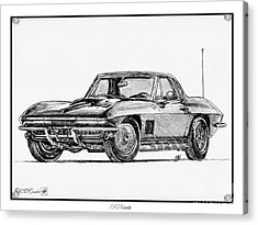 1967 Corvette Acrylic Print