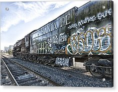Acrylic Print featuring the photograph 4 8 4 Atsf 2925 In Repose by Jim Thompson