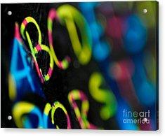 A B C D E F G Acrylic Print by Amy Cicconi