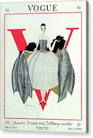 A Vogue Magazine Cover Of A Woman Acrylic Print by Georges Lepape