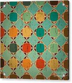 Abstract Geometric Pattern Background Acrylic Print