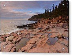 Acadia Sunrise Acrylic Print by Stephen  Vecchiotti