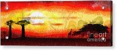 Africa Sunset Acrylic Print by Michal Boubin