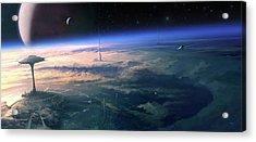 Alien Civilisation Acrylic Print by Gary Tonge / Science Photo Library