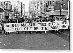 Anti Vietnam War Demonstration Acrylic Print
