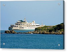Antibes - Superyachts Of Billionaires Acrylic Print by Christine Till