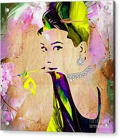 Audrey Hepburn Diamond Collection Acrylic Print