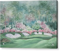 Augusta National 13th Hole Acrylic Print by Deborah Ronglien