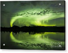 Aurora Borealis Over Fish Lake Acrylic Print by Joseph Bradley