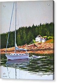 Bass Harbor Light Acrylic Print by Karol Wyckoff