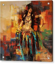 Belly Dancer 9 Acrylic Print by Corporate Art Task Force