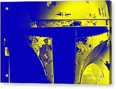 Boba Fett Helmet Acrylic Print by Micah May