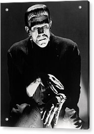 Boris Karloff In Frankenstein  Acrylic Print by Silver Screen