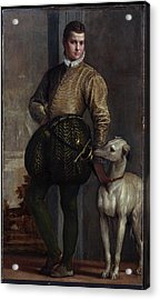 Boy With A Greyhound Acrylic Print by Paolo Veronese