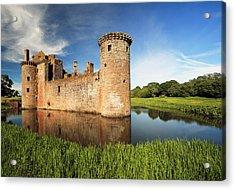 Caerlaverock Castle Acrylic Print by Grant Glendinning