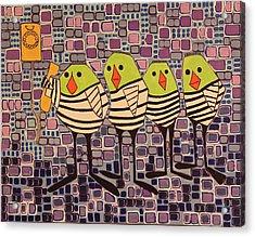 4 Calling Birds Acrylic Print
