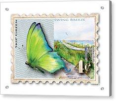 4 Cent Butterfly Stamp Acrylic Print by Amy Kirkpatrick