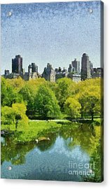 Central Park In New York Acrylic Print by George Atsametakis