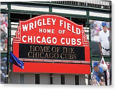 Chicago Cubs - Wrigley Field Acrylic Print by Frank Romeo