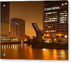 Chicago Acrylic Print by Miguel Winterpacht
