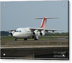 Cityjet British Aerospace Avro Rj85 Acrylic Print by Paul Fearn