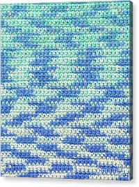 Crochet Made With Variegated Yarn Acrylic Print by Kerstin Ivarsson